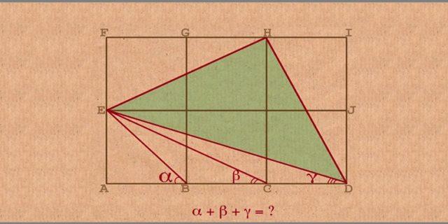 El problema de los tres triángulos